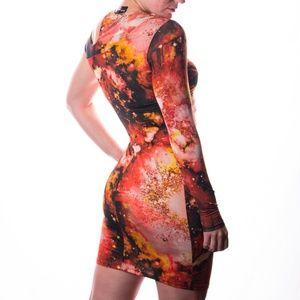 ASOS One Arm Print Dress